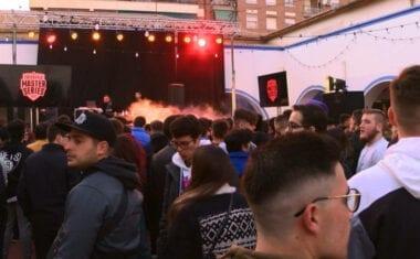 El Mercado de Abastos acogió una batalla de exhibición de Rap