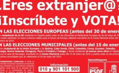 Juventudes Socialistas de Jumilla se pone a disposición de los extranjeros que deseen votar en las próximas Municipales y Europeas