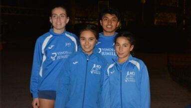 Los cuatro atletas del Athletic Club Vinos DOP Jumilla en el Campeonato Regional