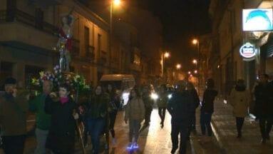San Sebastián patrón calle Calvario