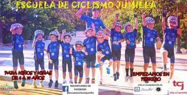 Cartel de la segunda temporada de la Escuela de Ciclismo Jumilla