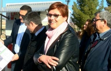 Alcaldesa Miraflores Jumilla placas solares