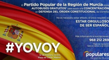 Cartel PP Jumilla manifestacion