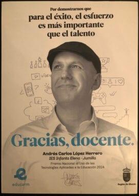 Gracias Docente jumillano Andres Carlos
