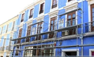 Obras reparacion Edificio Azul