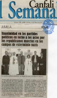 Templarios homenaje victimas nazismo Jumilla