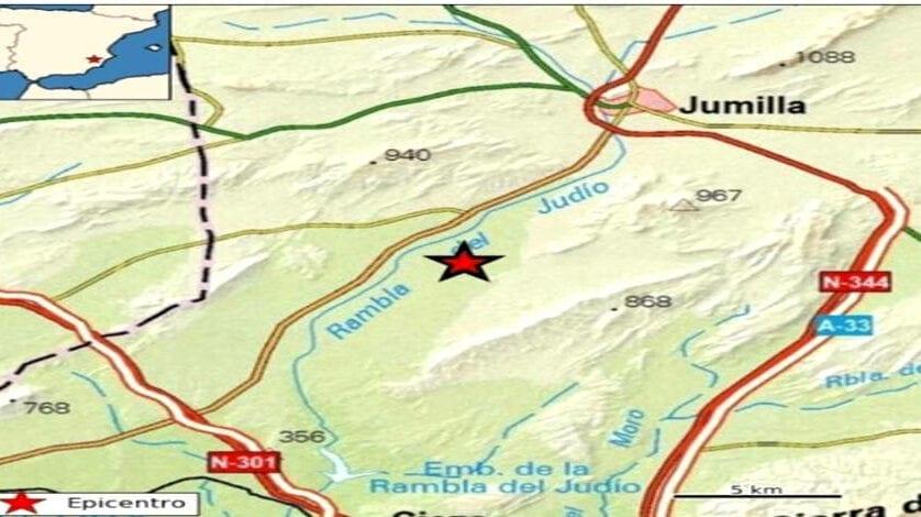 Un terremoto ha sacudido Jumilla esta mañana