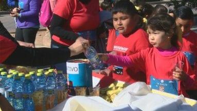 Todos los niños recibieron un almuerzo para reponer fuerzas