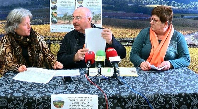 Jumilla acogerá una Jornada sobre el futuro de la agricultura y la ganadería en las zonas desfavorecidas