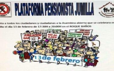 Asamblea Abierta de la Plataforma de Pensionistas en el Roque Baños
