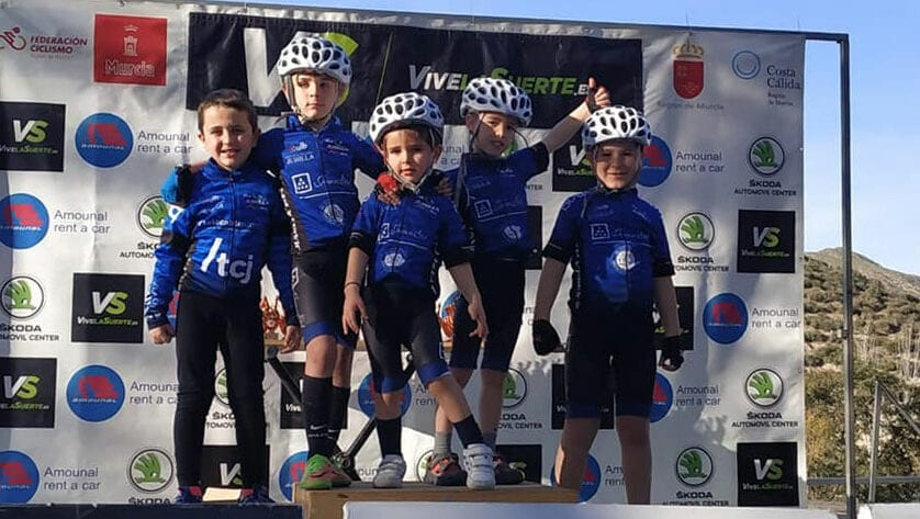 La Escuela de Ciclismo Jumilla recorrerá toda la  Región de Murcia con las 'kid Series'