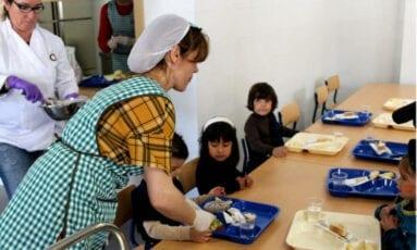 Alumnos comedor escolar La Asunción Jumilla