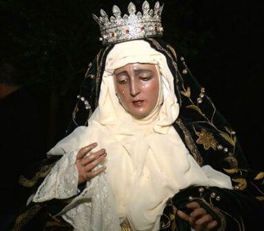 La Virgen de las Penas participa desde hace dos años en este singular traslado