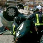 Realizado un simulacro de accidente de tráfico con atrapados