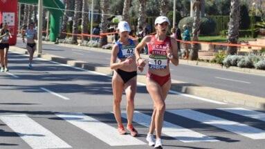 Ángela Carrión durante su prueba de los 20 Km Marcha