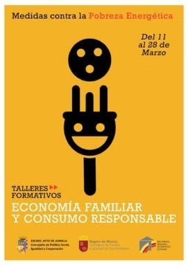 Cartel talleres sobre medidas contra la pobreza energética