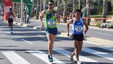 Eduardo Minchala durante su prueba de los 20 Km Marcha