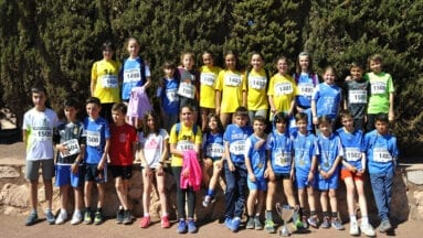 Alumnos jumillanos en la final del cross escolar