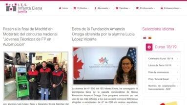 Web del instituto de enseñanza secundaria Infanta Elena
