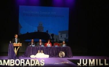 Evaristo Navarro pregona las Tamboradas 2019 y Juan José Bernal es nombrado Tamborilero de Honor