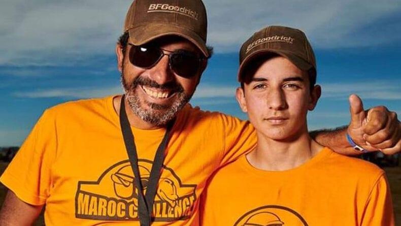 Antonio Tárraga y Fran Tárraga, padre e hijo, en la organización de carrera de la Maroc Challenge Spring edition