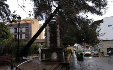 Los fuertes vientos y las lluvias de estos días dejan multitud de daños materiales