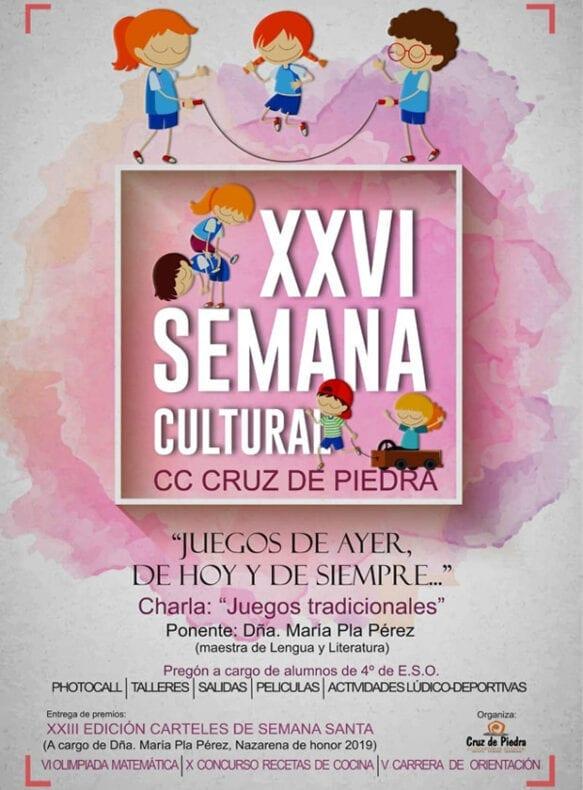 Cartel de la XXVI Semana Cultural del Cruz de Piedra