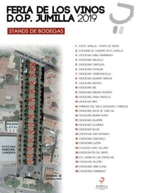 Plano de la ubicación de las bodegas participantes en la Feria de Vinos DOP Jumilla 2019