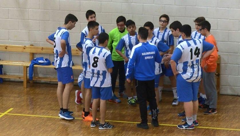Victoria de los infantiles de la Escuela de Balonmano por 30-26 ante UCAM Murcia