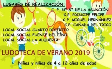 El lunes 27 se abre el plazo de inscripciones para las Ludotecas de Verano