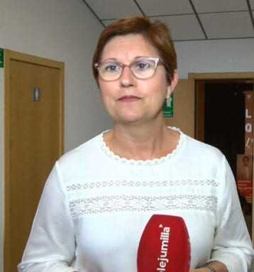 Juana Guardiola, candidata a la Alcaldía de Jumilla por el PSOE