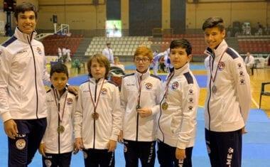 Cuatro medallas para el Club Taekwondo Jumilla en la fase final  en edad escolar del Regional  de Castilla La Mancha