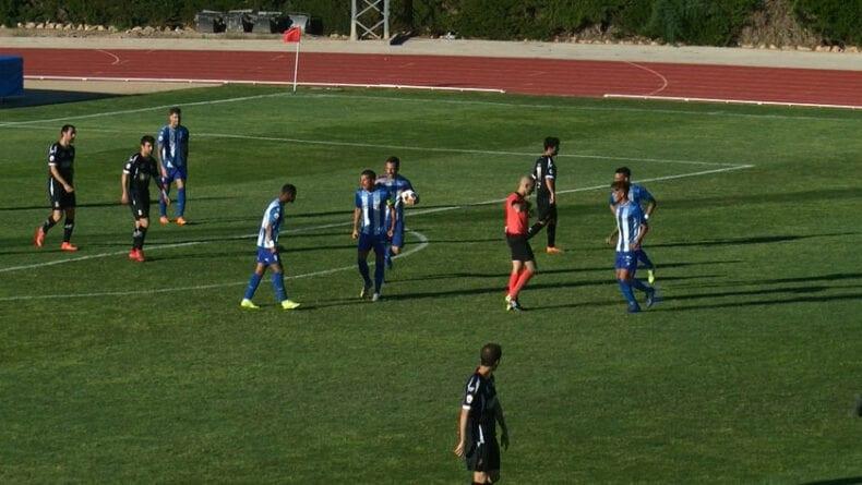 El gol de Bouba deja con vida al Fútbol Club Jumilla para el partido de vuelta