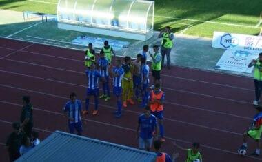 El FC Jumilla sigue vivo en la eliminatoria de la promoción tras empatar a dos en el Uva Monastrell