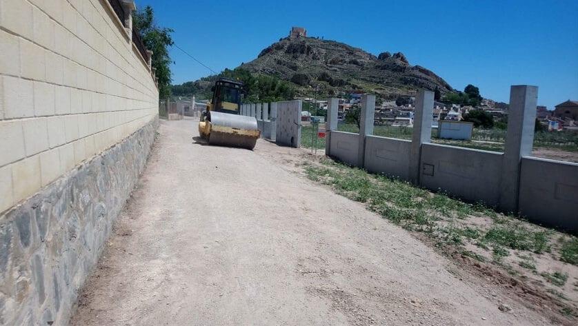 En marcha las obras de acondicionamiento del camino Cuesta de la Parra
