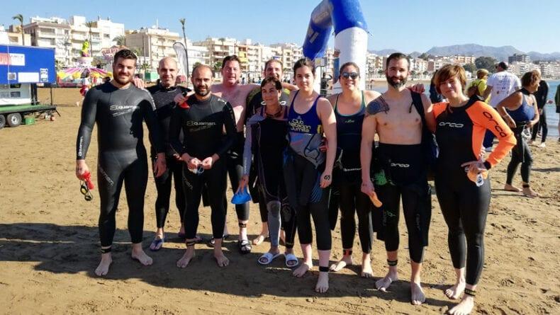 Nadadores del Club Natación Jumilla en la Travesía de Mazarrón