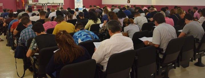 Más de 500 personas se han presentado a los exámenes
