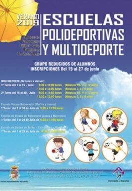 Cartel oferta de las escuelas deportivas de verano
