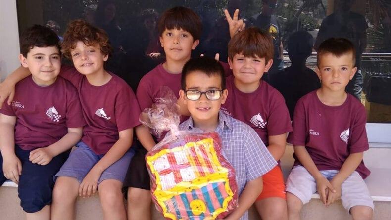Los ajedrecistas del Club Ajedrez Coimbra en el Torneo Infantl del CDA Lapuerta de Cartagena