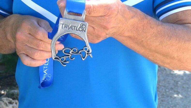 Medalla de plata lograda por Pepe Bernabéu en el Nacional de Triatlón celebrado en Almería