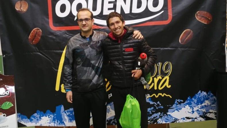Miguel Ángel Sánchez de Hinneni Trail Running junto al vencedor absoluto de la prueba, Manuel Merillas