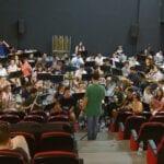 La Banda Sinfónica de la Federación de Bandas de la Región de Murcia se concentra en Jumilla