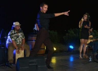Contó con la actuación del Trío Vicky Aguamarina y el bailaor David Simón Olivares