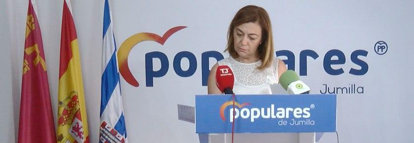 Seve González en la sede del PP en Jumilla