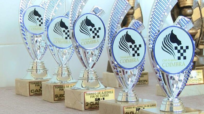 Con el torneo se pone el punto y final al curso 2018-2019 de la Escuela Ajedrez Coimbra