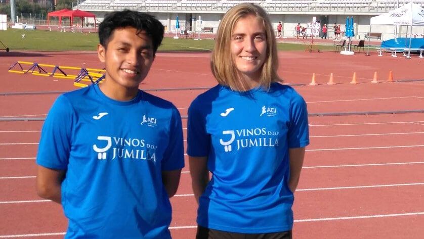 Carrión y Minchala defendieron los colores del Athletic Club Jumilla en el Campeonato de España sub-23