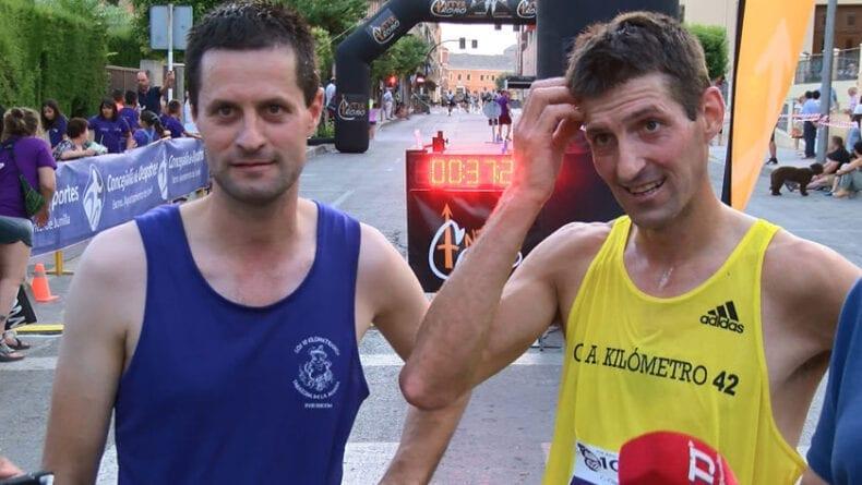 Los hermanos Juan Antonio y Andrés Micó, vencedores de los 6,1 y 10 km Ciudad de Jumilla