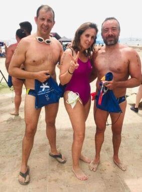 Los nadadores del Club Natación Jumilla en la XVIII Travesía Playas de San Javier