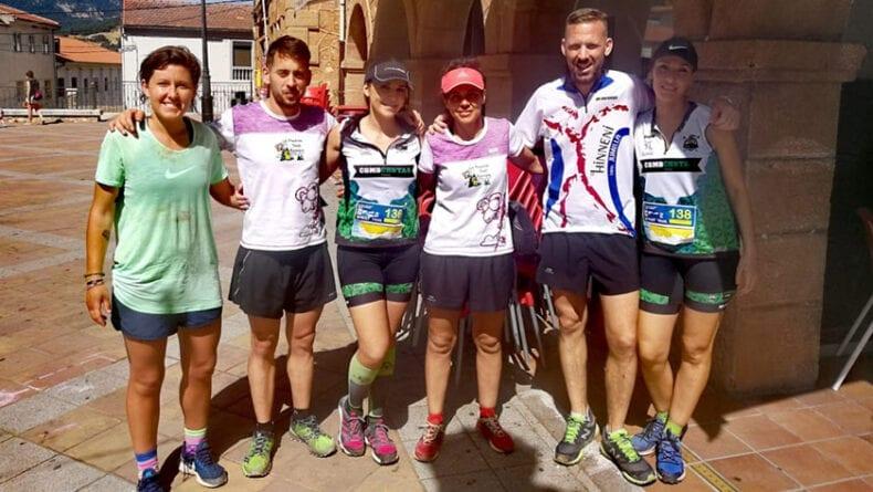 Miembros de Hinneni Trail Running y Como Chotas Trail en la prueba de Riopar