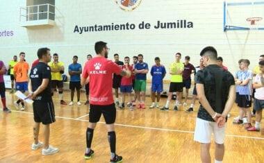 Una treintena de jugadores participan en las pruebas de captación del filial del Club Jumilla FS